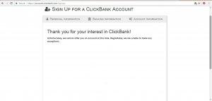 Clickbank Error 2nd Time Jpg